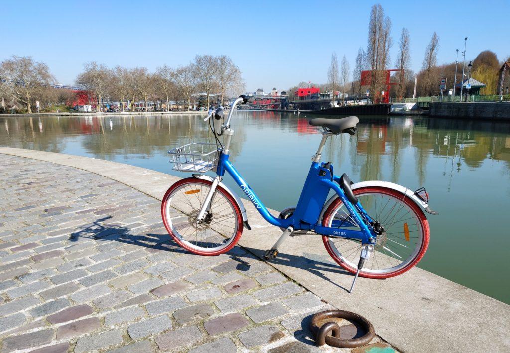 Vélo libre-service Oribiky canal